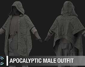 Apocalyptic male outfit Marvelous Designer project 3D