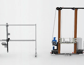 Stacking-machine-assembly 3D model shelves