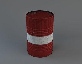 3D model Lowpoly rusty barrel