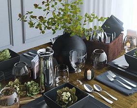 Tableware black 3D model