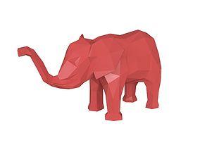 Elephant low poly model