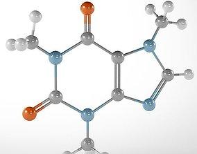 chemistry 3D model Molecule Caffeine