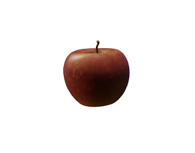 Apple Low Poly 3D model