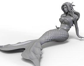 3D printable model woman Mermaid 3