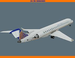 CRJ700 United 3D asset