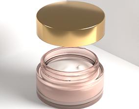 Face cream Glass jar Cream container 3D model