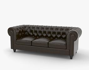 Chesterfield Sofa room 3D model