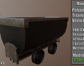Minecart 3D asset