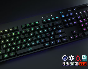 3D model Logitech Wireless RGB Computer Keyboard