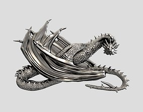 Dragon Smaug relief 3D print and CNC model