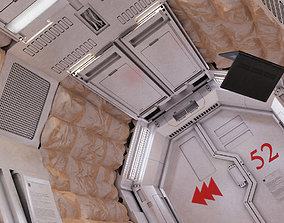 3D model set scifi corridor2