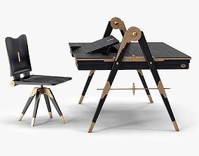 Compass Desk by Alexey Samygin 3D model VR / AR ready