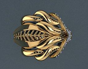 pendant 3D print model Ring 45
