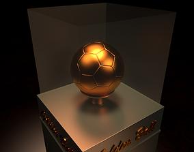 3D model Golden Soccer Ball