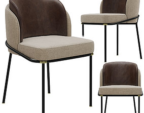 3D Minotti Fil Noir dining chair