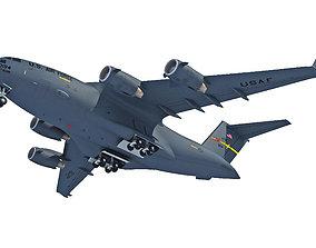 Military Globemaster C-17 Aircraft 3D