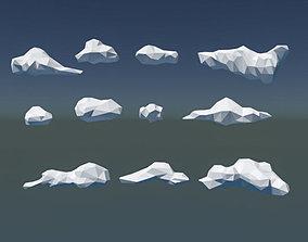 3D asset Low Poly Cloud Pack