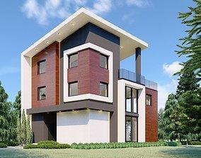 Modern House - RED 3D model