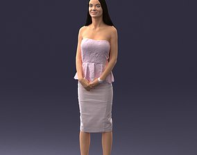 Fashion Woman Posed Scanned Model 3D model glamour