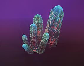 3D model fantasy mineral for games