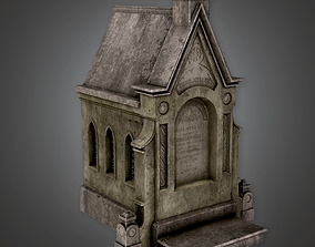 3D asset Cemetery Mausoleum 5 CEM - PBR Game Ready