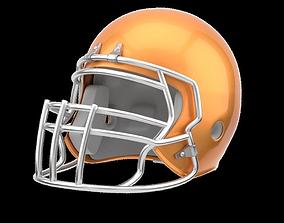 Classic American Football Helmet 3D asset