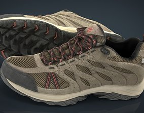 Hiking shoes 3D asset