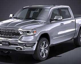 LowPoly Dodge Ram 1500 2019 3D asset
