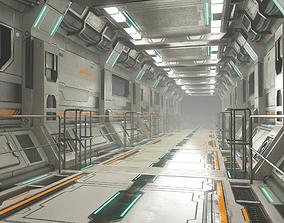 Sci-Fi Modular Corridor Version 2 3D model PBR