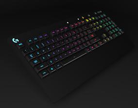 Logitech G-213 prodigy keyboard 3D asset