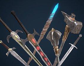3D asset Fantasy Weapon Pack PBR