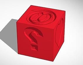 Emoji Die Cube Indent cube 3D print model