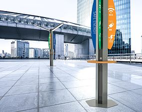 Wi-fi light poles 3D model