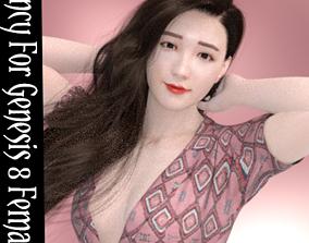 Nancy Kpop Character For Genesis 8 Female 3D model