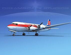 Douglas DC-6 Cunard Eagle 3D model