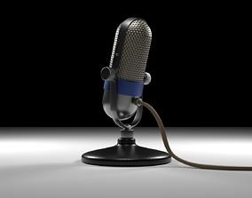 The Retro Microphone 3D model