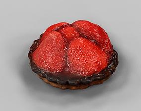 Strawberry Pie 3D asset VR / AR ready