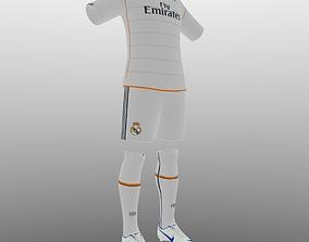 Real Madrid home soccer kit 3D asset