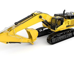 3D Standard Excavator High Poly