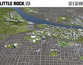 3D model Little Rock Arkansas USA 50x50km