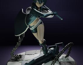 3D printable model Black Rock Shooter - Main Character