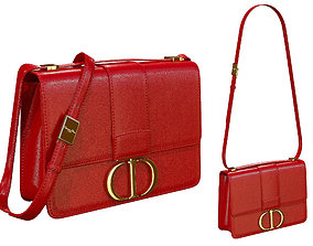 Dior 30 Montaigne Bag Red Leather 3D model