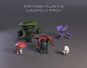 3D model Fantasy Plants