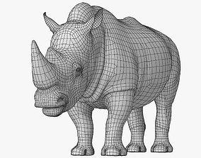 Rhino Low Poly 3D model VR / AR ready