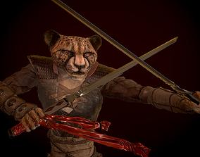Cheetah samurai Gephart samurai 3D model