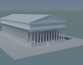 3D model Greek Temple