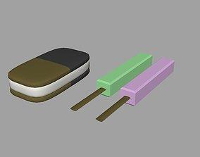 3D asset Ice cream pack