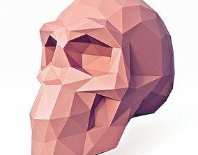 3D asset Low Poly Skull 2