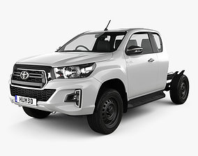3D Toyota Hilux Extra Cab Chassis SR 2019