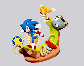 figurine SONIC THE HEDGEHOG TAILS STATUE FOR 3D PRINT